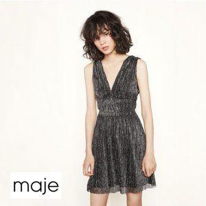 Maje Rimalda Metallic Shimmer Dress Medium